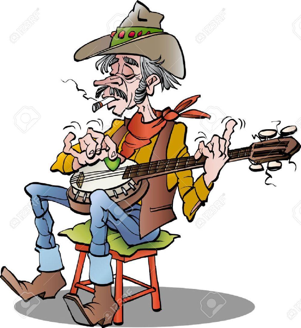 medium resolution of cartoon illustration of a country banjo player stock vector 51308455