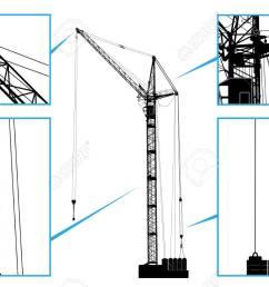 high detailed vector hoisting crane vector illustration royalty chain hoist diagram high detailed vector hoisting crane [ 1300 x 812 Pixel ]