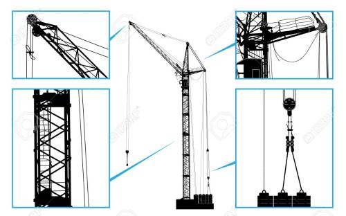 small resolution of high detailed vector hoisting crane vector illustration royalty chain hoist diagram high detailed vector hoisting crane
