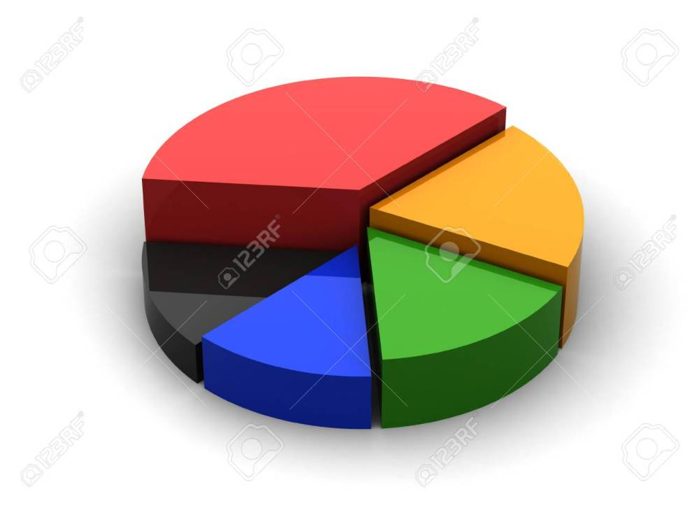 medium resolution of 3d circular diagram on white background stock photo 21454137