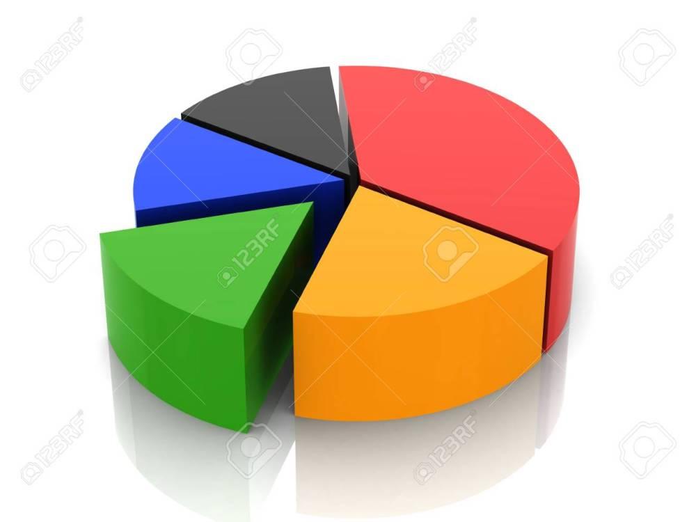 medium resolution of 3d circular diagram on white background stock photo 21454165