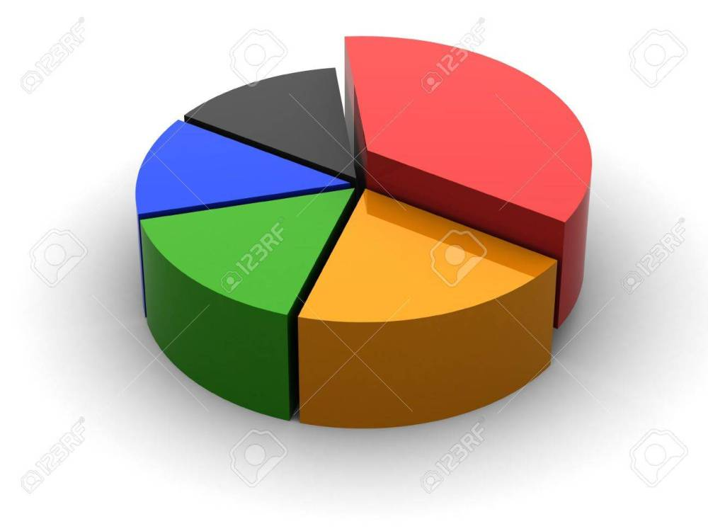 medium resolution of 3d circular diagram on white background stock photo 21454166
