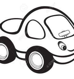 cute kids race car black and white stock vector 15971456 [ 1300 x 1053 Pixel ]