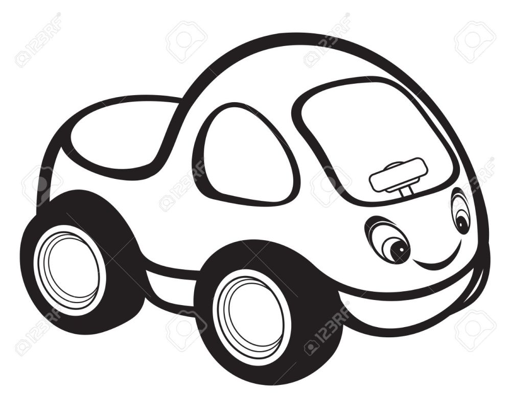 medium resolution of cute kids race car black and white stock vector 15971456