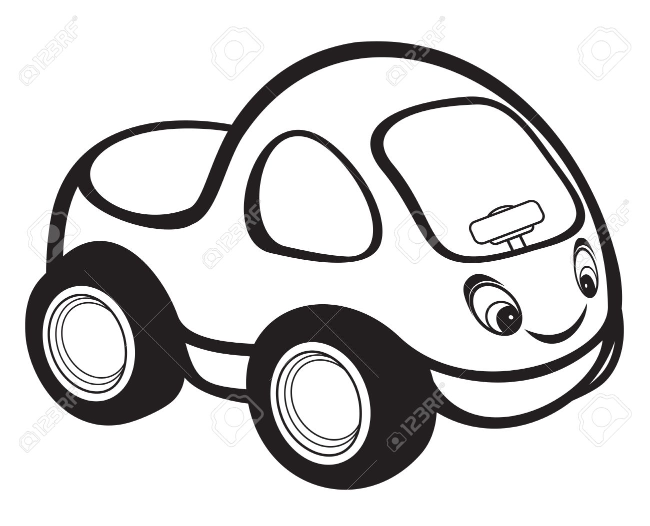 hight resolution of cute kids race car black and white stock vector 15971456