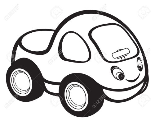 small resolution of cute kids race car black and white stock vector 15971456