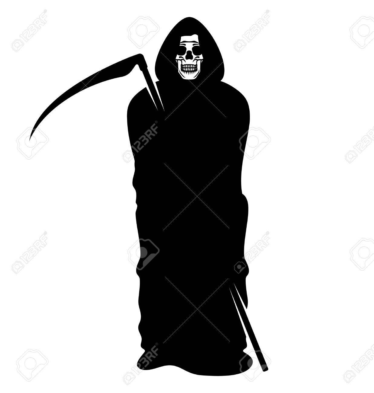 hight resolution of death grim reaper stock vector 34063421