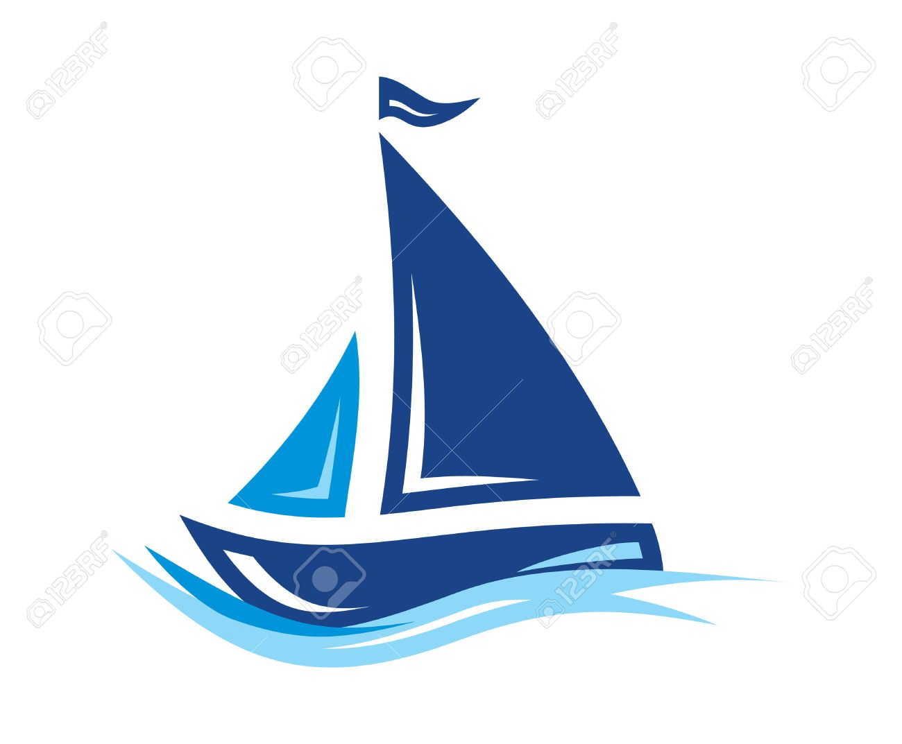 hight resolution of sailing boat vector icon