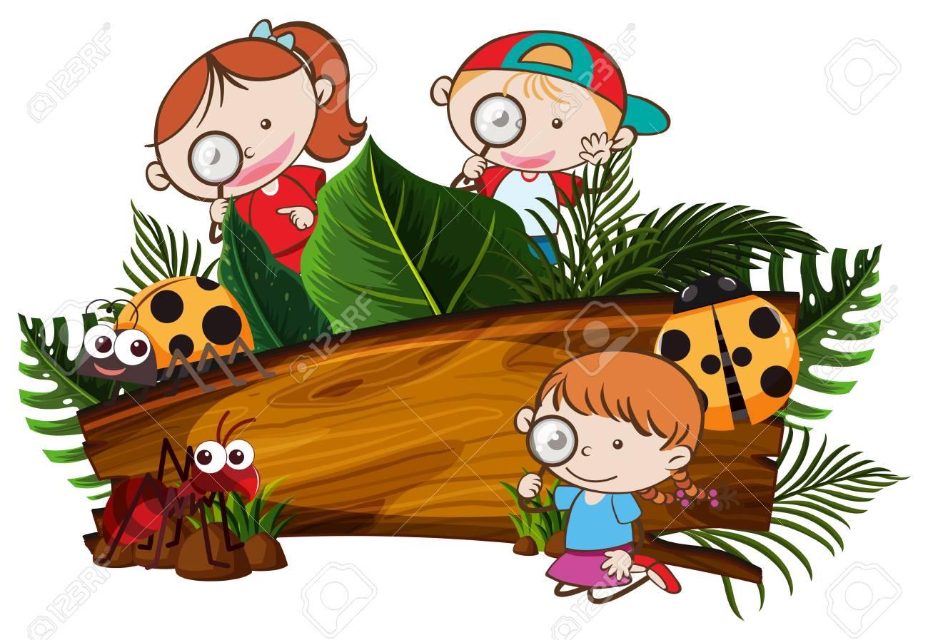 kids exploring the nature