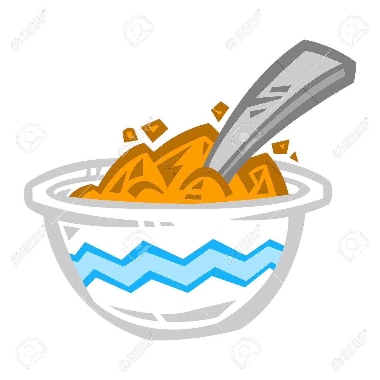 hight resolution of bowl of cereal icon stock vector 65864014