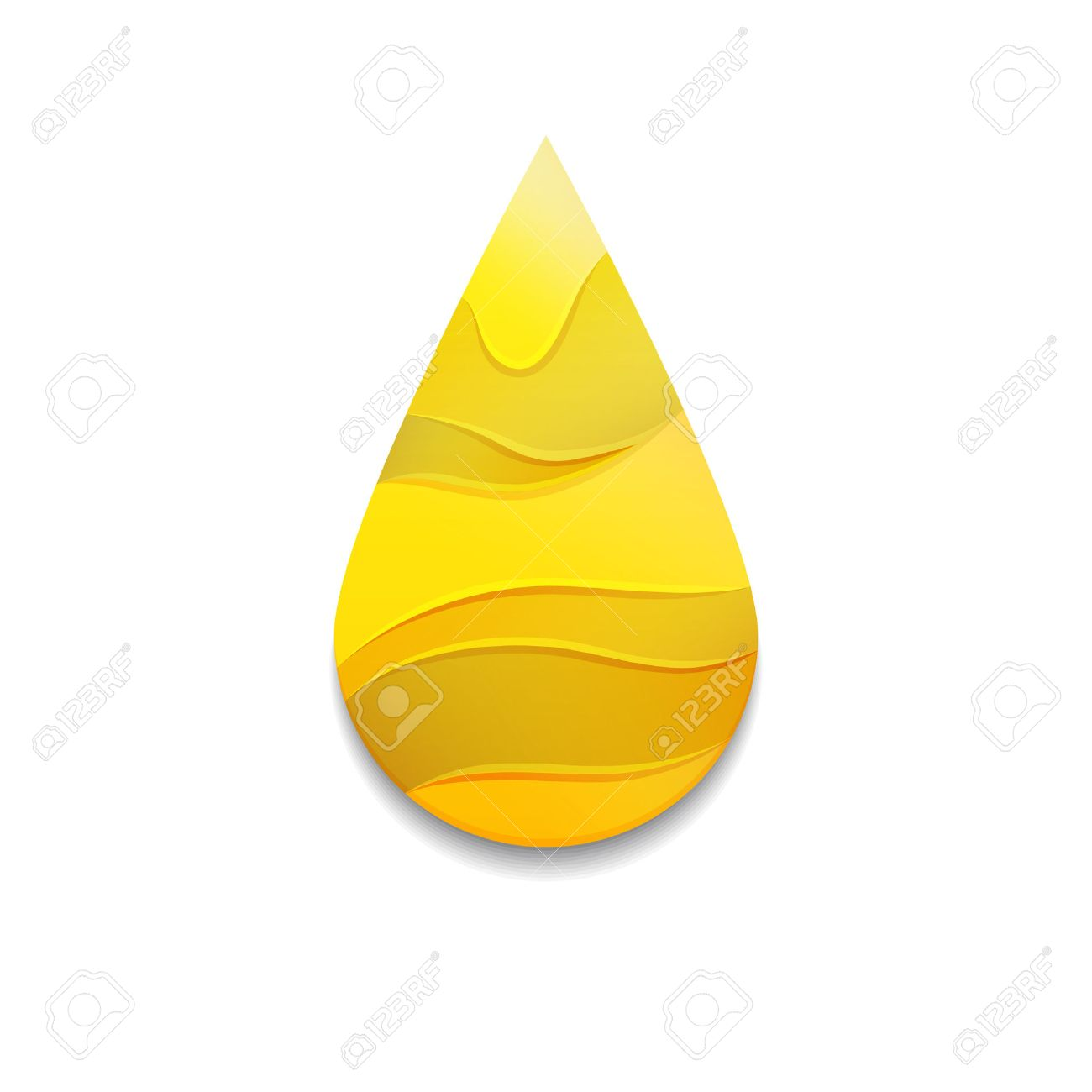 yellow oil drop with