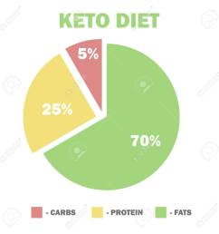 ketogenic diet macros diagram low carbs high healthy fat vector illustration for info [ 1300 x 1300 Pixel ]