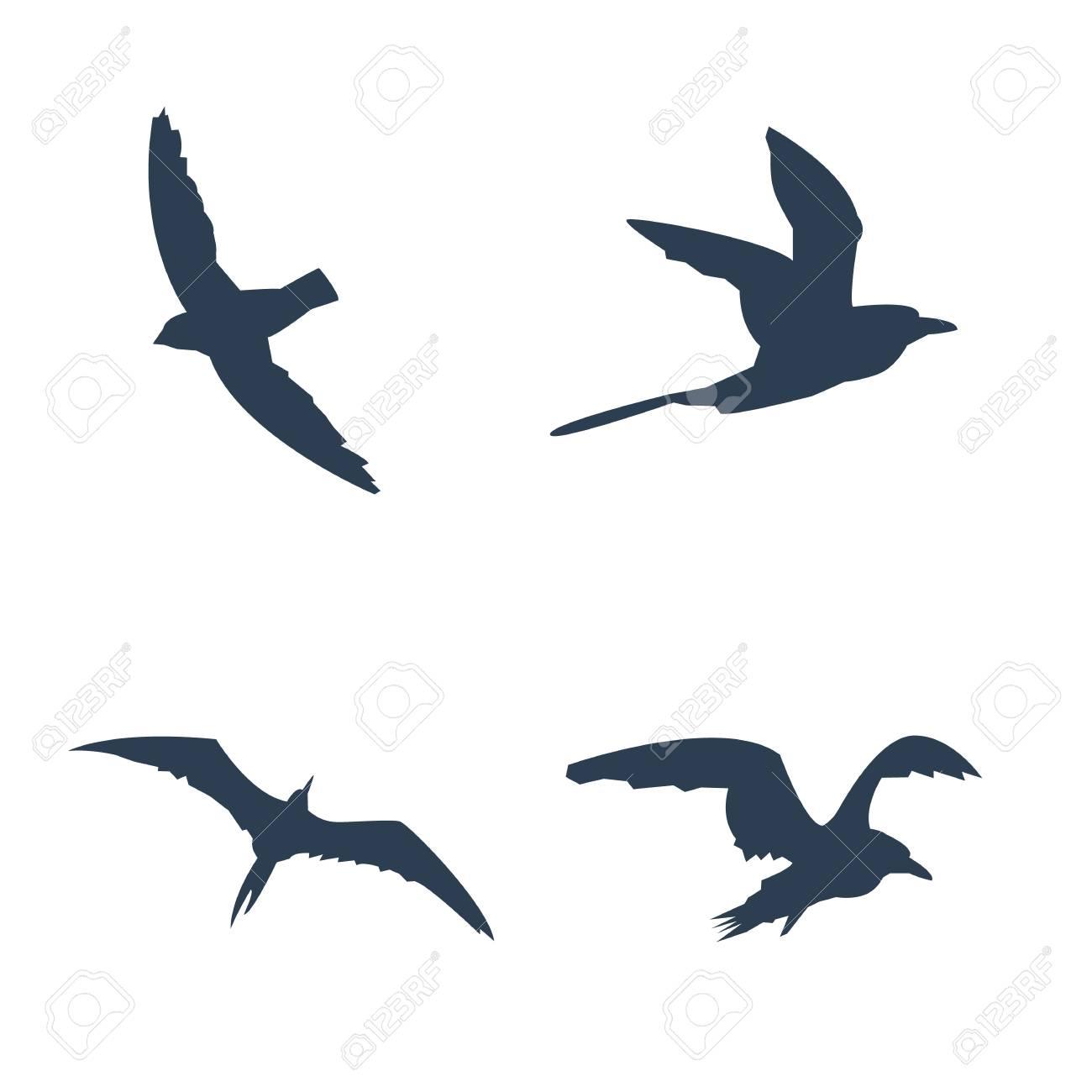 flying birds icons