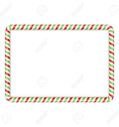 frame made of candy cane red and green colors stock vector 47242209 [ 1300 x 1300 Pixel ]