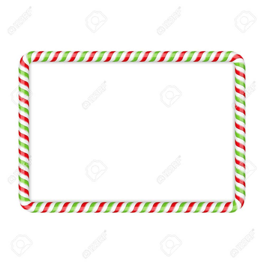 medium resolution of frame made of candy cane red and green colors stock vector 47242209
