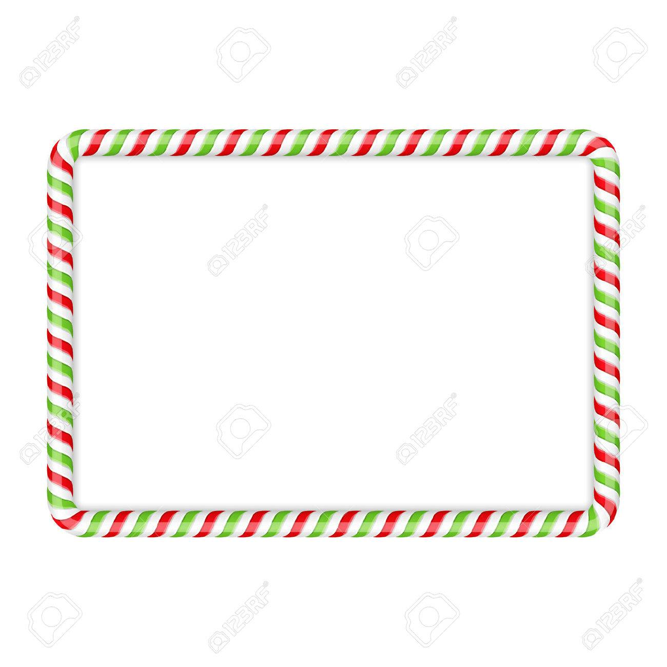 hight resolution of frame made of candy cane red and green colors stock vector 47242209