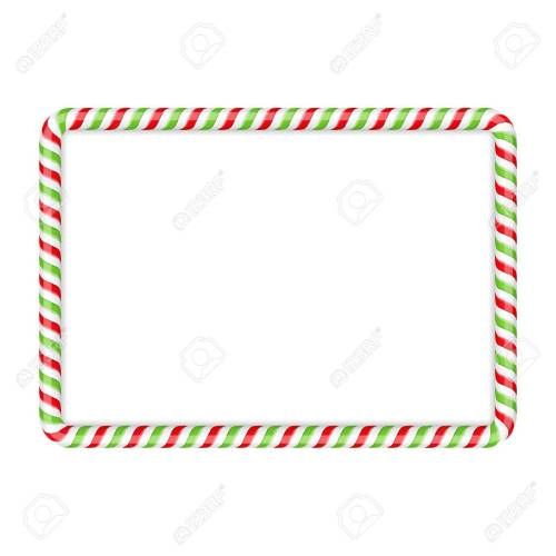 small resolution of frame made of candy cane red and green colors stock vector 47242209