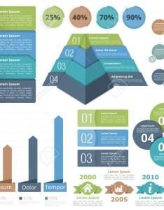 Infographic design elements flowchart bar graph pyramid chart process diagram progress also rh rf