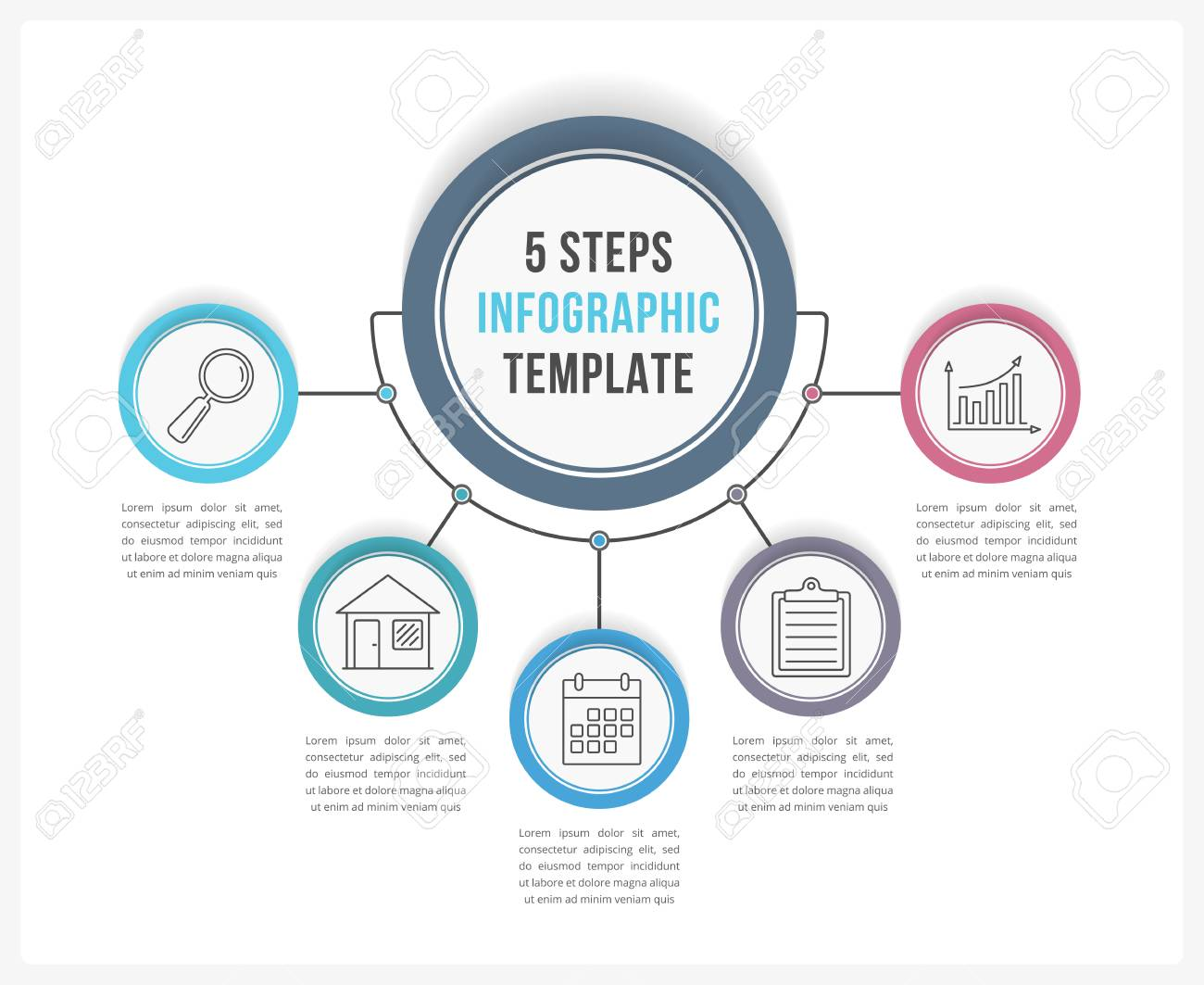 hight resolution of process flow diagram template stock vector 89055352