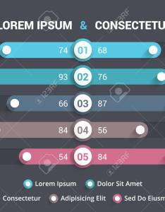 Comparison chart with five elements and legend stock vector also royalty free cliparts rh rf