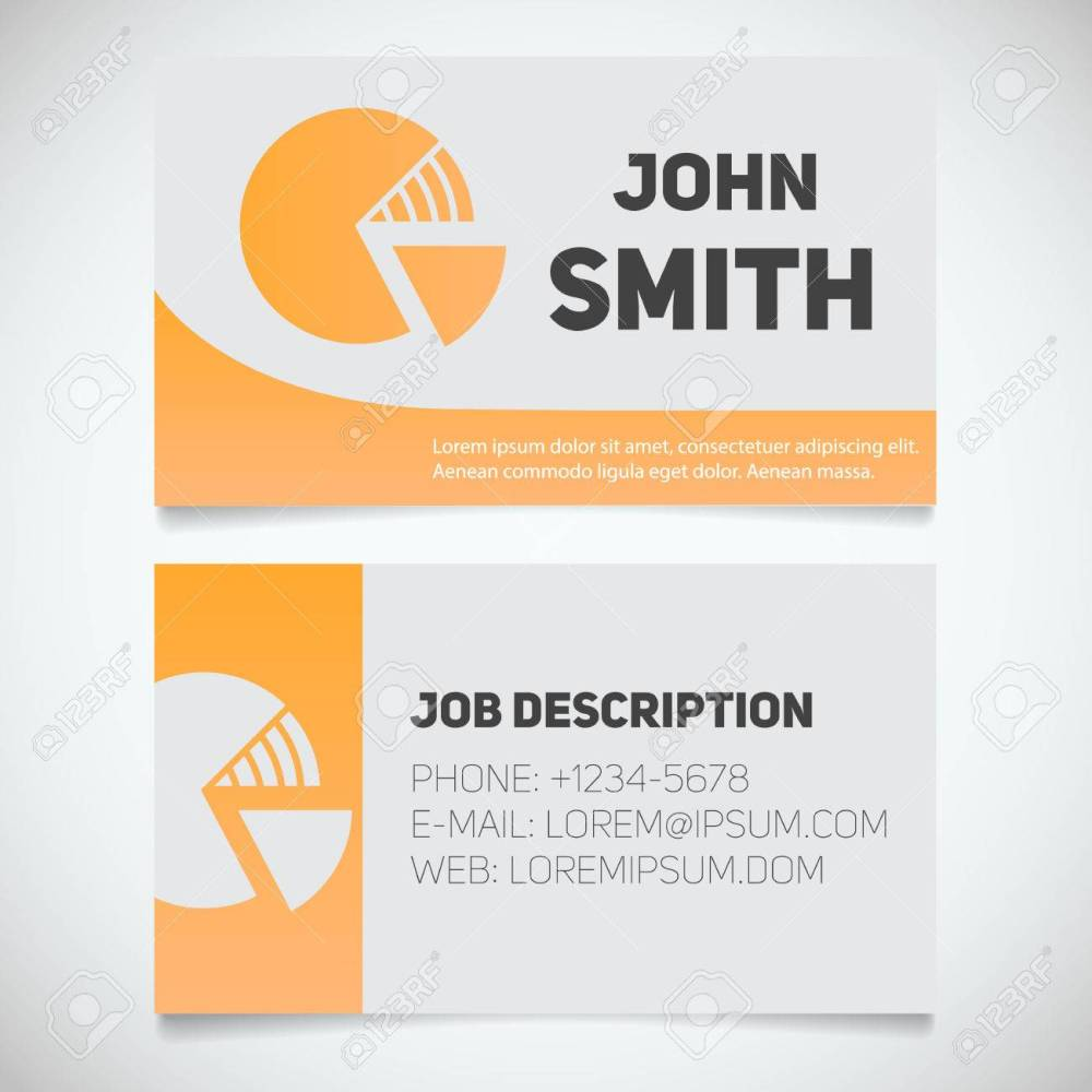 medium resolution of business card print template with diagram logo easy edit marketer analyst stockbroker