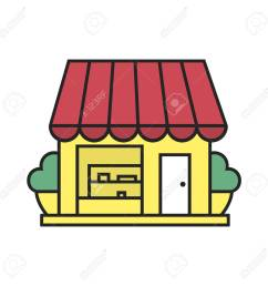 small shop color icon coffee house cafe isolated vector illustration stock vector  [ 1300 x 1300 Pixel ]