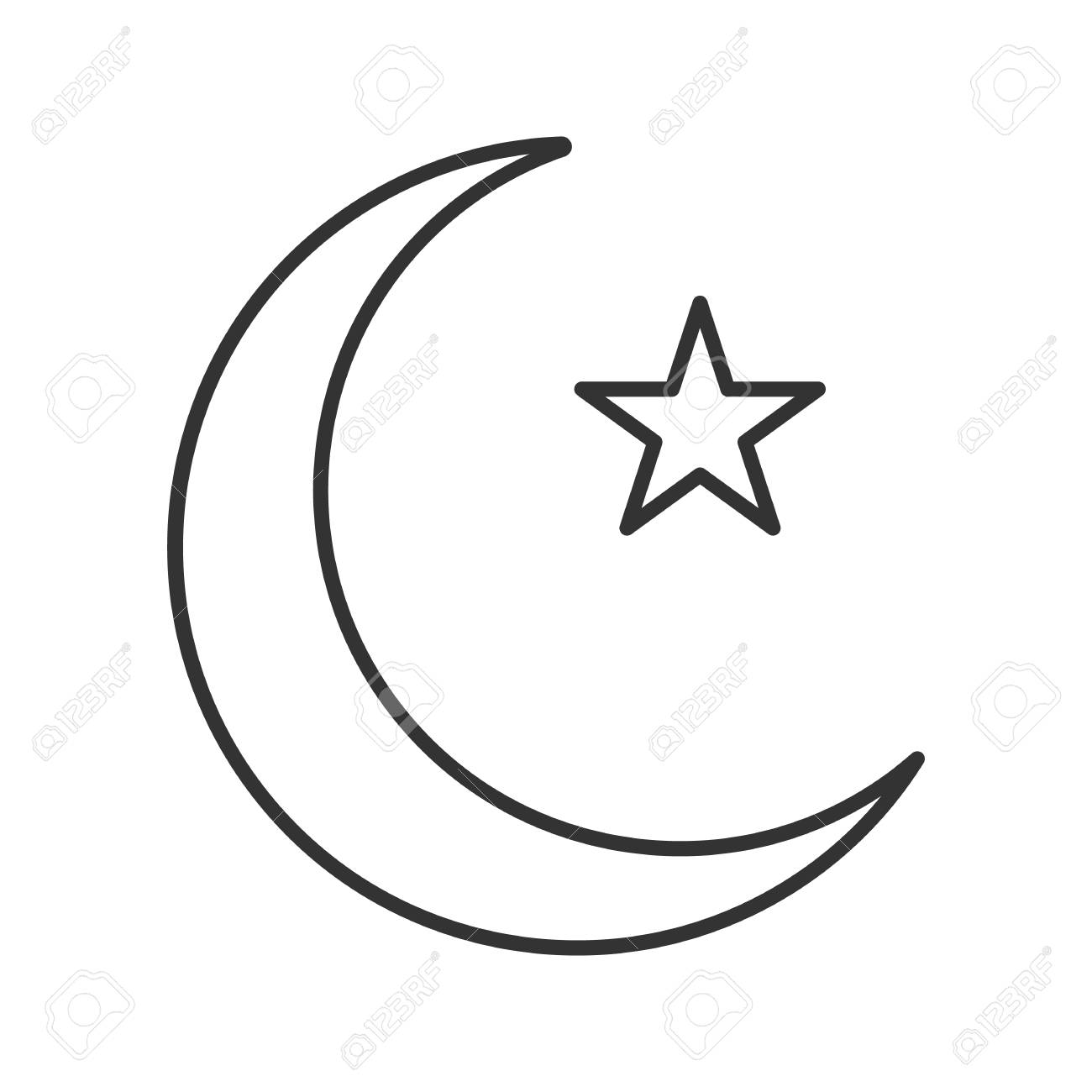 star and crescent moon