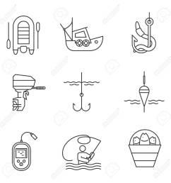 outboard boat motor fisherman echo sounder fishhook  [ 1300 x 1300 Pixel ]