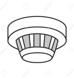 smoke detector color icon fire alarm system isolated vector illustration stock vector 98948724 [ 1300 x 1300 Pixel ]