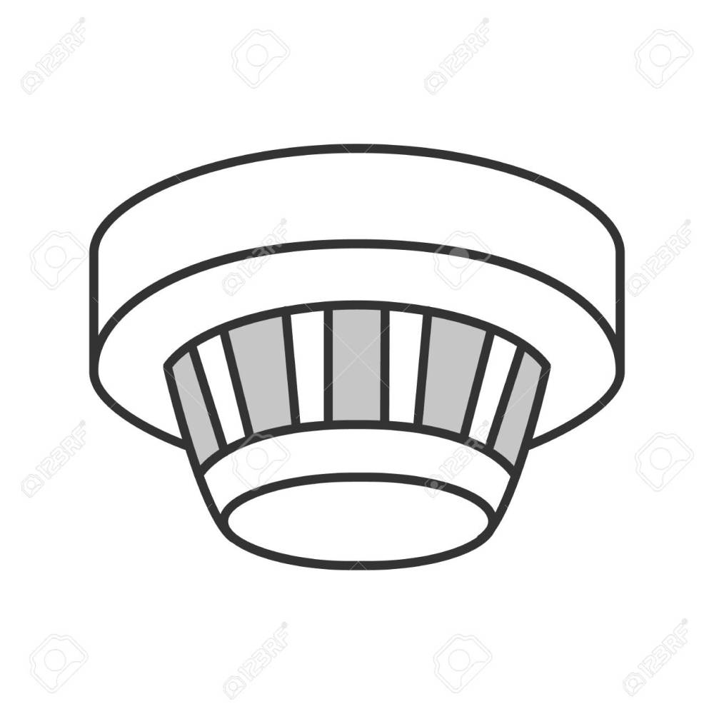 medium resolution of smoke detector color icon fire alarm system isolated vector illustration stock vector 98948724