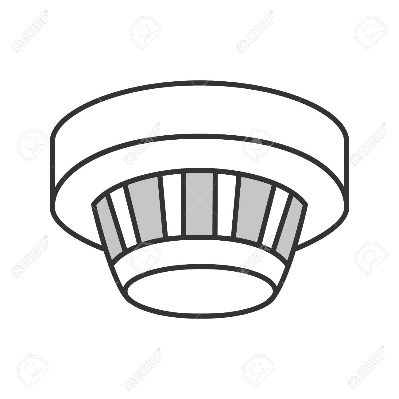 hight resolution of smoke detector color icon fire alarm system isolated vector illustration stock vector 98948724