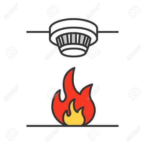 small resolution of smoke detector color icon fire alarm system isolated vector illustration stock vector 99918289