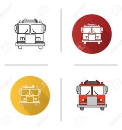 fire engine diagram in color wiring diagram compilationfire engine icon flat design linear and color [ 1300 x 1300 Pixel ]