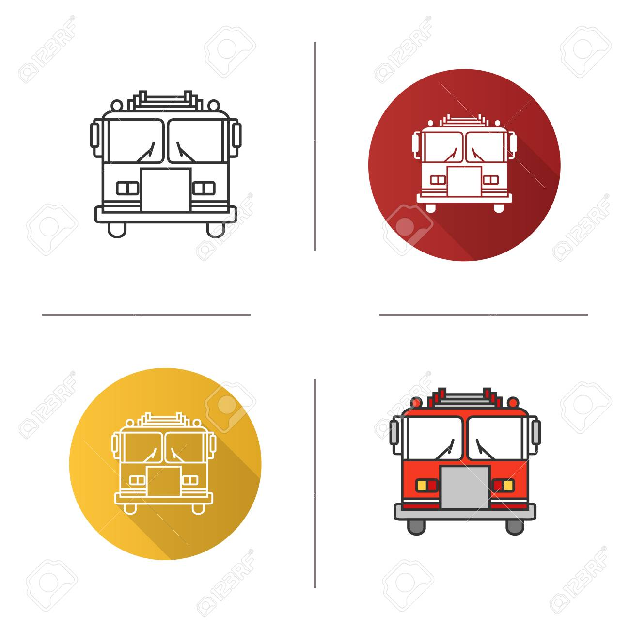 hight resolution of fire engine diagram in color wiring diagram compilationfire engine icon flat design linear and color