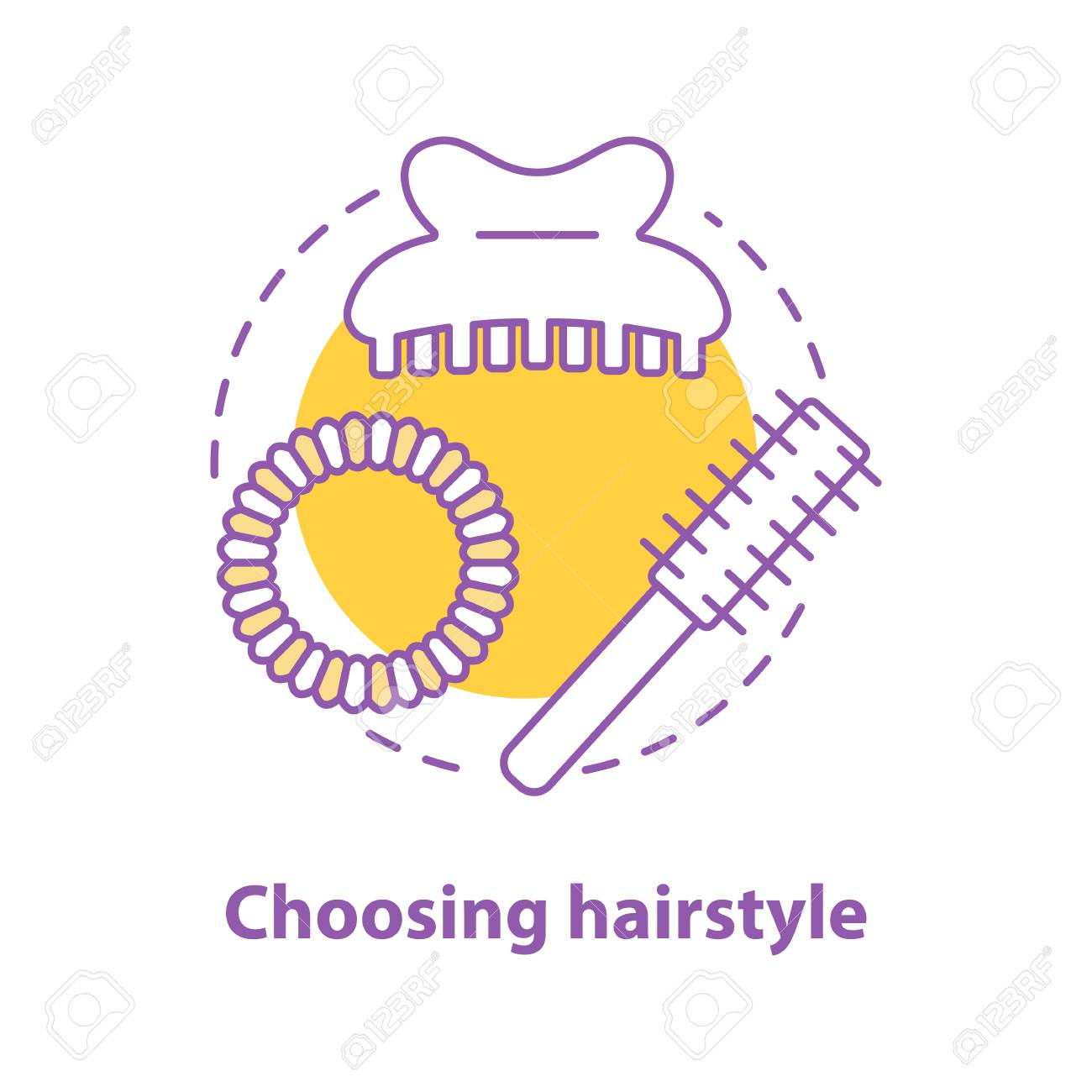 choosing hairstyle concept icon