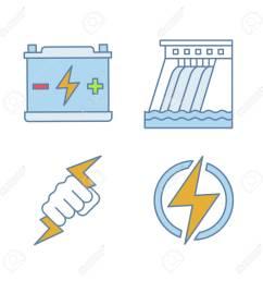accumulator hydroelectric dam power fist lightning bolt [ 1300 x 1300 Pixel ]