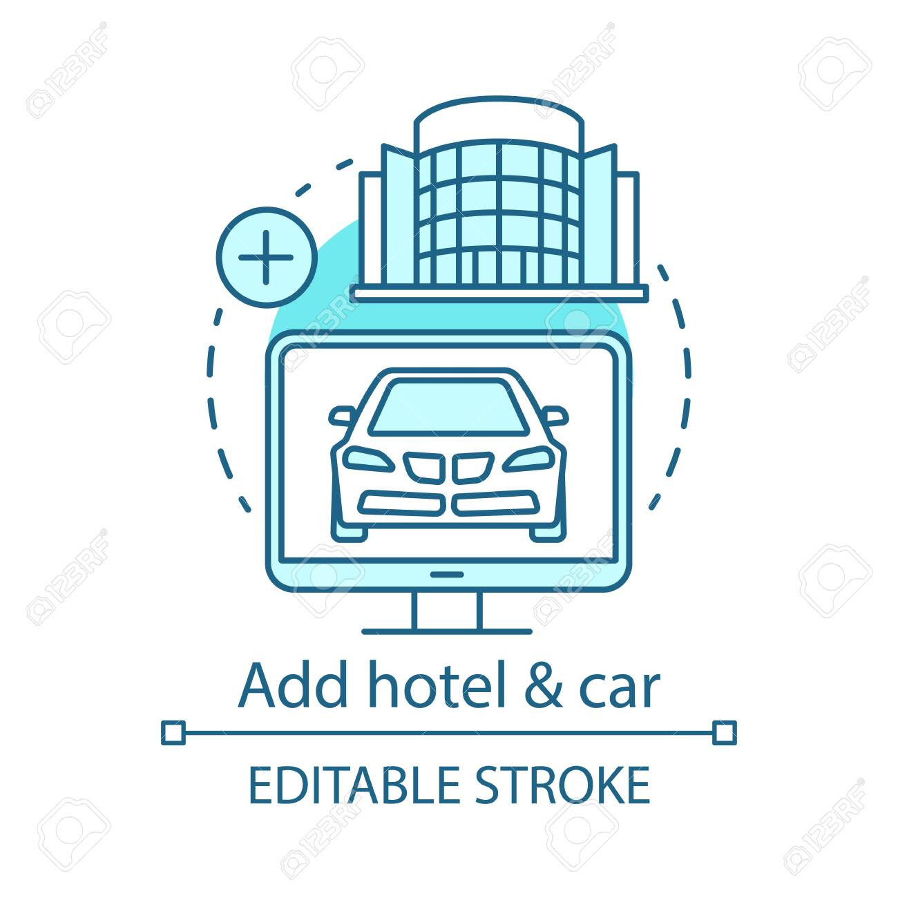 Add Hotel And Car Concept Icon Vacation Options Idea Thin Line Royalty Free Cliparts Vectors And Stock Illustration Image 128922484