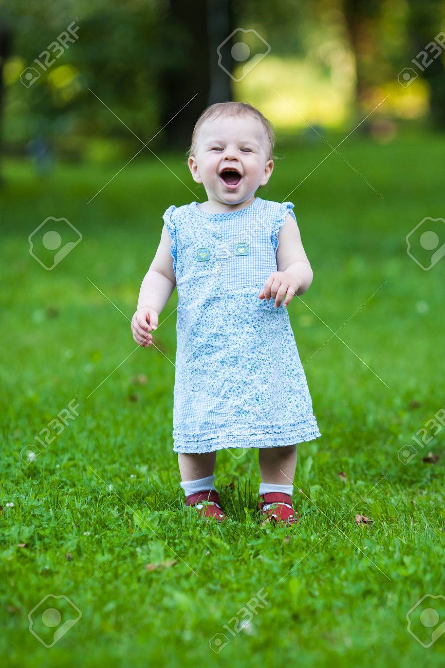 Smile Cute Baby Girl : smile, Beautiful, Smiling, Dress, Stock, Photo,, Picture, Royalty, Image., Image, 34832250.