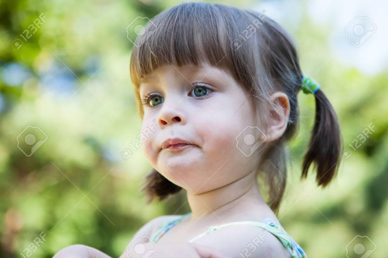 sulky angry young girl