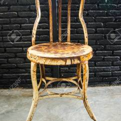 Old Metal Chairs Swivel Gaming Chair For Decoration And Rest Stock Photo Picture 31249207