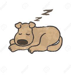 sleep dog cartoon vector stock vector 27516074 [ 1300 x 1300 Pixel ]
