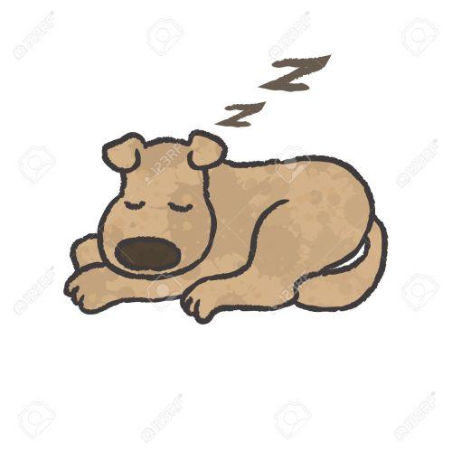small resolution of sleep dog cartoon vector stock vector 27516074