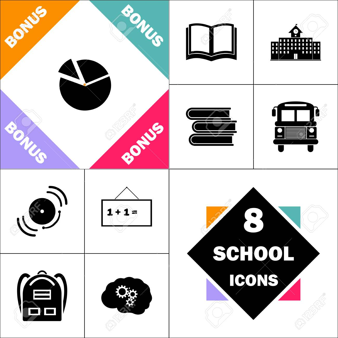 hight resolution of diagram icon and set perfect back to school pictogram contains building diagram icon