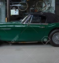 berlin may 10 2015 the roadster austin healey 3000 mk 3  [ 1300 x 737 Pixel ]