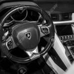 Stuttgart Germany March 04 2017 Interior Of Lamborghini Stock Photo Picture And Royalty Free Image Image 78557304