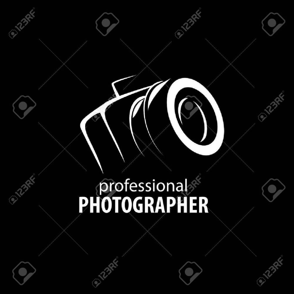 medium resolution of vector logo template for a photographer or studio illustration