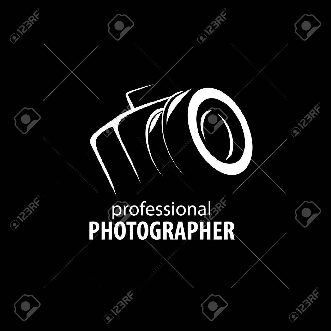 hight resolution of vector logo template for a photographer or studio illustration