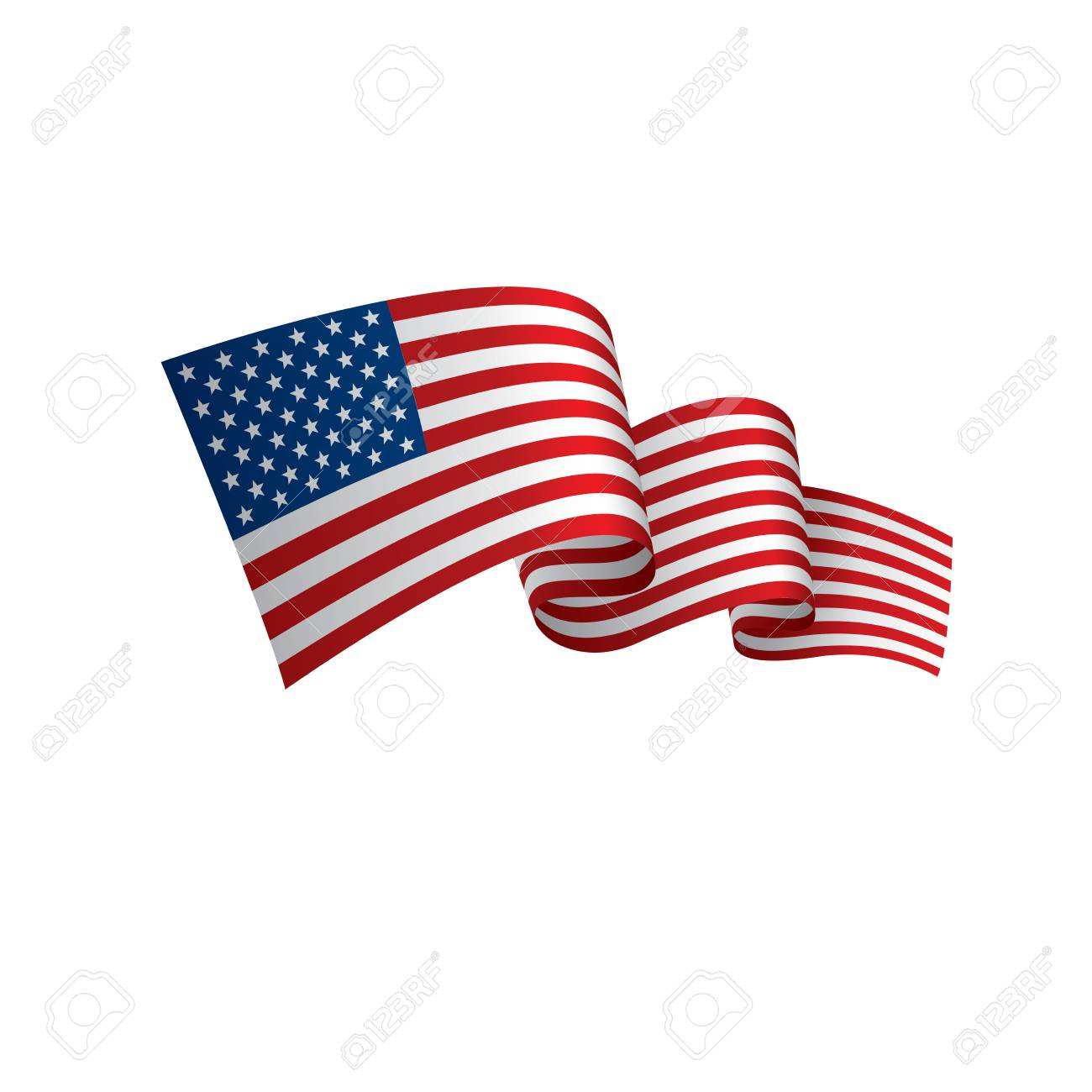 hight resolution of usa flag vector illustration on a white background stock vector 92845430