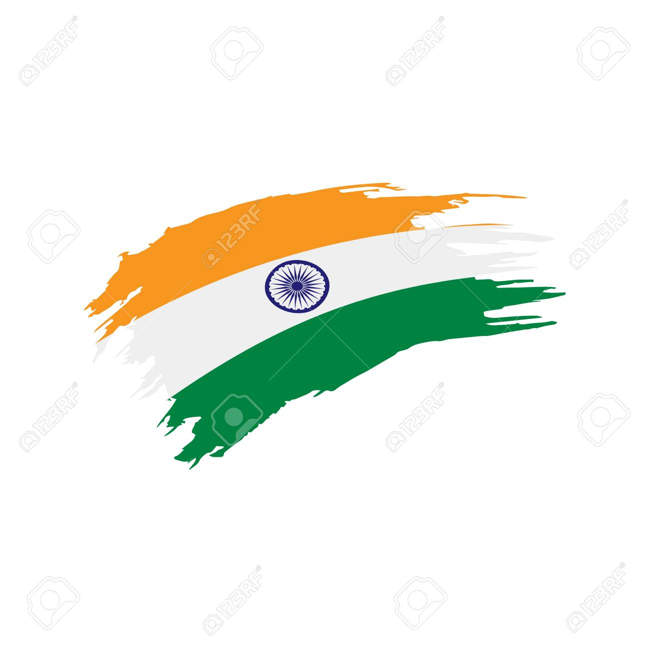 India Flag Vector Illustration On A White Background Royalty Free Cliparts Vectors And Stock Illustration Image 96601074