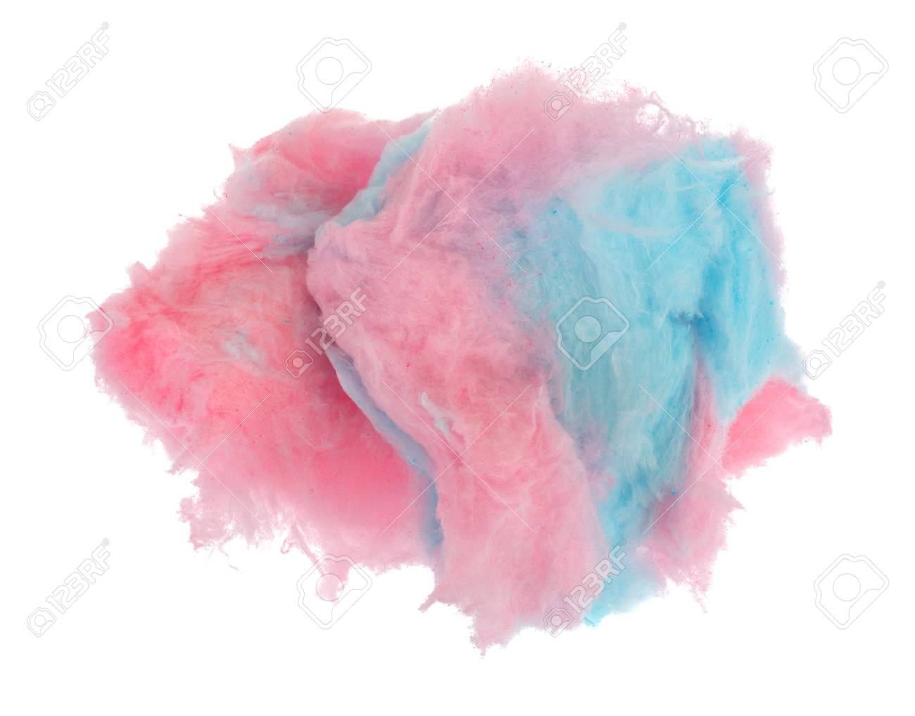 pink and blue cotton